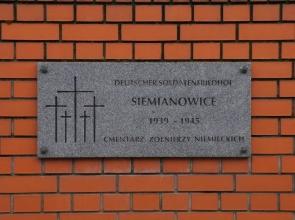Cmentarz żołnierzy niemieckich w Siemianowicach Śląskich - widok ogólny