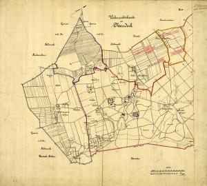 Mapa gminy Świerklaniec z 1897 roku (oryginał dostępny w AP Katowice)
