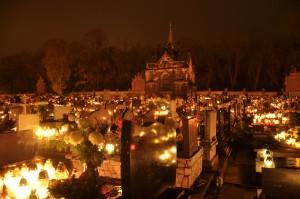 cmentarz przy piekarskiej Kalwarii